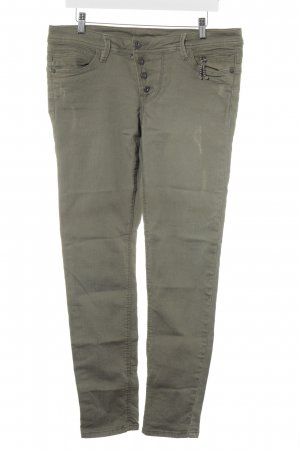Wortel jeans khaki casual uitstraling