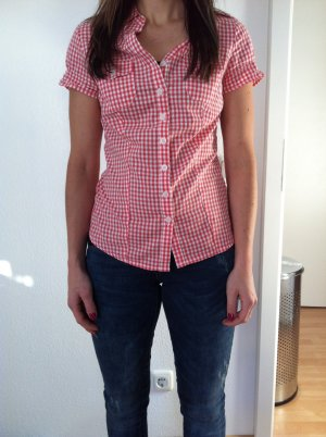 Karrierte Bluse in Rot