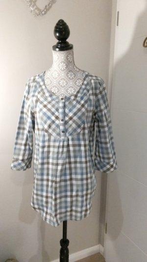 Karrierte Bluse mit Knöpfen