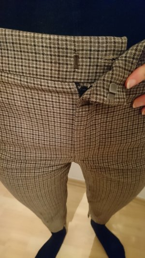 Karrierte cropped pant