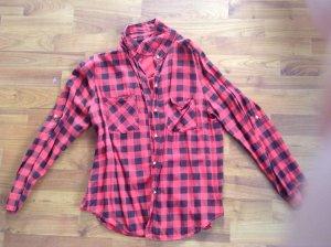 Madonna Camisa de manga larga negro-rojo