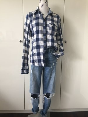 Abercrombie & Fitch Houthakkershemd blauw-wit