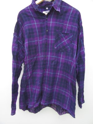 karriertes Holzfällerhemd Vintage Retro Gr. XXL lila oversize