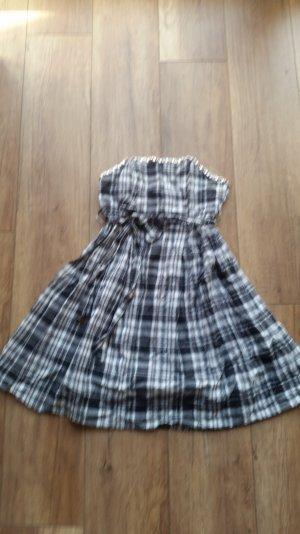 karriertes schulterfreies Kleid gr. 34
