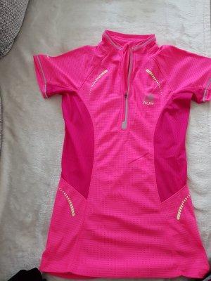 Camisa deportiva rosa neón-púrpura