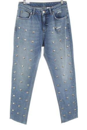 KARSSEN High Waist Jeans blau Casual-Look