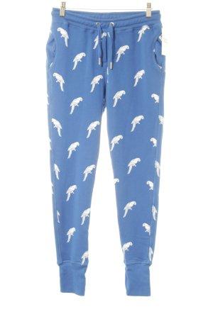 KARSSEN Pantalon de jogging blanc-bleu motif animal imprimé animal