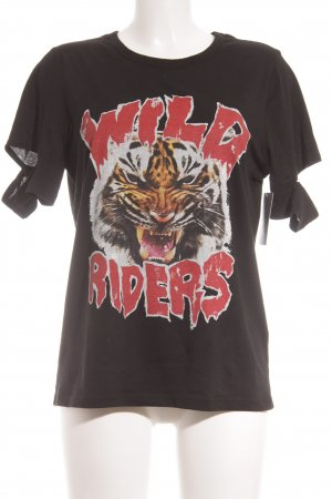 KARSSEN T-Shirt schwarz Motivdruck Punk-Look