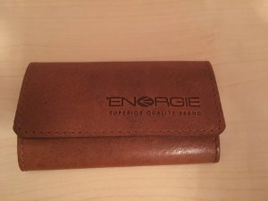 Energie Card Case bronze-colored leather