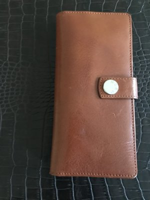 Card Case brown-baby blue