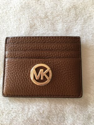 Michael Kors Tarjetero marrón-color oro