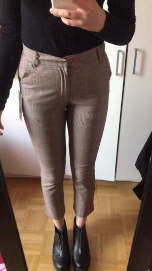 Kartierte Stoff Karotten Hose highwaist Zara neu xs blogger
