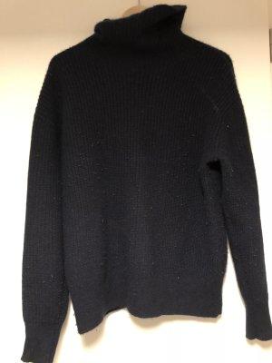 Kaschmir Cashmere Woll Pullover dunkelblau