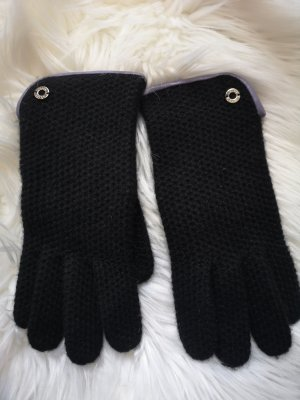 Coach Knitted Gloves black-purple
