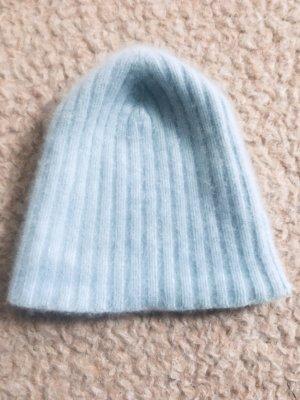 Sombrero de punto azul bebé Cachemir