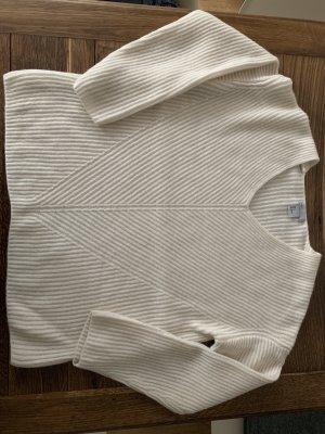 H&M Maglione con scollo a V bianco sporco