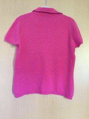 Short Sleeve Sweater neon pink cashmere