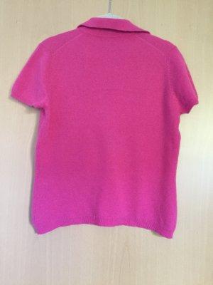Jersey de manga corta rosa neón Cachemir