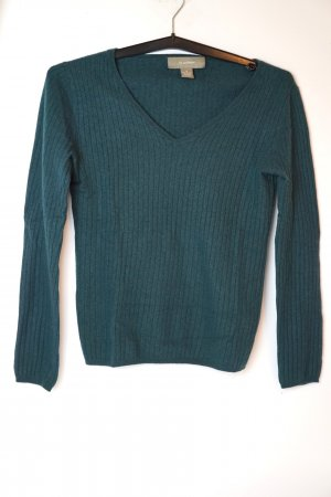 Kaschmir-Pullover in Petrol-Blau (quasi neu)