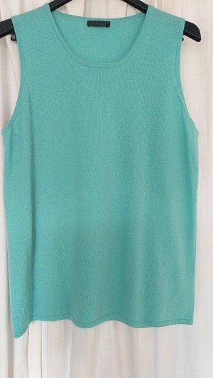 Sandra Portelli Cardigan en maille fine turquoise