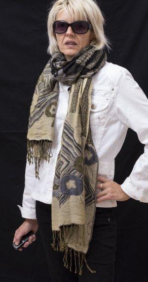 Kaschmir- Schal, mit eingewebtem Muster, warm und kuschelig