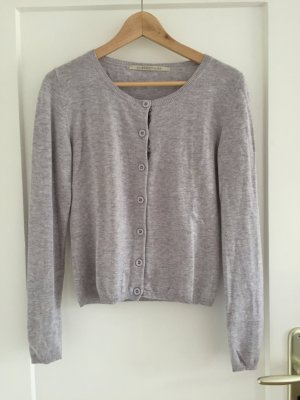 Custommade Cardigan light grey-silver-colored