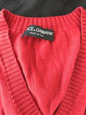 Kaschmir-Top Trendfarbe ROT Dolce & Gabbana XS-S wie Neu