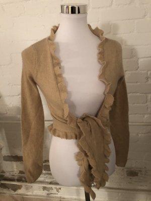 Cache-cœur en tricot beige
