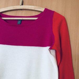 Kaschmir/Wollpullover in Blockfarben