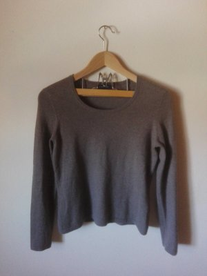 Lands' End Crewneck Sweater grey brown cashmere