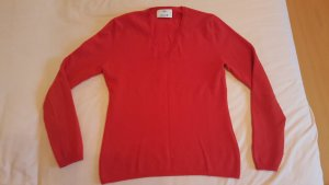 Allude V-Neck Sweater red cashmere