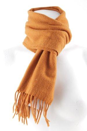 Cashmere Scarf dark orange simple style