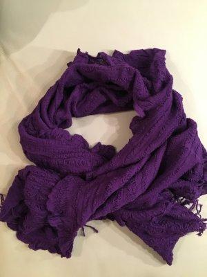 KASHMIR House Wollschal, lila, violett mit Etikett, NEU und ungetragen