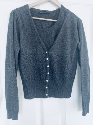 Emily van den Bergh Twin Set tipo suéter anthracite-grey cashmere