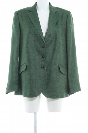 Kastell Lange blazer bos Groen visgraatmotief zakelijke stijl