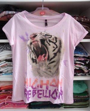 Kasten Shirt mit Krempelarm und Tigerprint