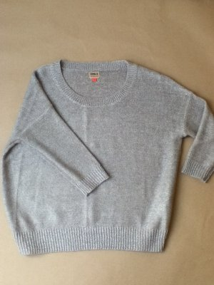 Kastig geschnitter Pullover mit Glitzer-Lurex