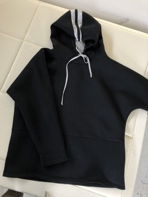 Penn & Ink Hooded Sweatshirt black-white