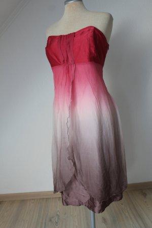 Babydoll-jurk veelkleurig Zijde