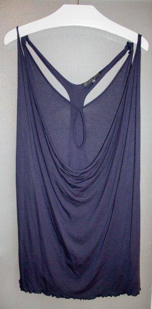 KATE MOSS FOR TOPSHOP, blaues Shirt, zweilalig, tiefer Rückenausschnitt