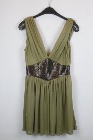 Kate Moss for Topshop Kleid Abendkleid Gr. 38 oliv (18/3/134)