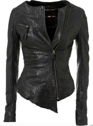 Kate Moss Topshop Iconic Biker Asymmetric Leder Jacke Lederjacke