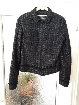 Topshop Veste noir-argenté laine