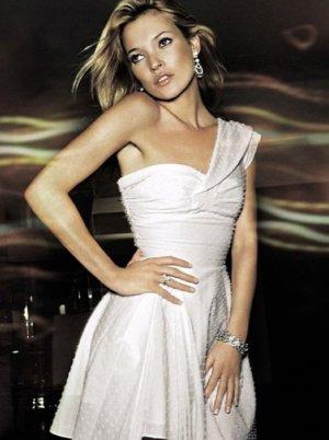 Kate Moss Topshop white Dobby One Shoulder Kleid, UK 10 EU 38