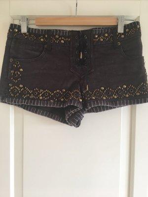 Kate Moss x Topshop Shorts mit Nieten 38