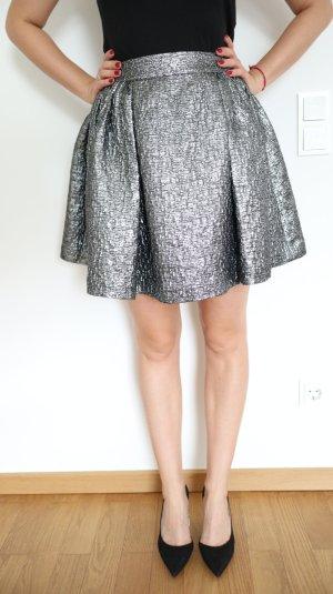 Kate Spade  Designer Aimee Metallic Rock Silber 36 S Silvester Party