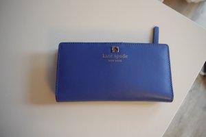 Kate Spade Geldbörse Portemonnaie blau Leder