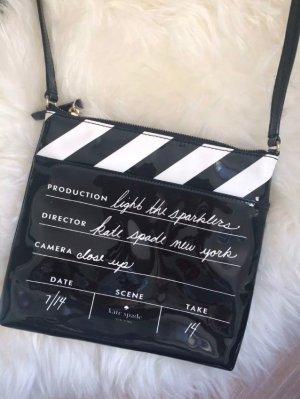 Kate Spade Lack Tasche Schwarz Cinema Kino NEU