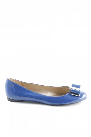 Kate Spade Patent Leather Ballerinas gold-colored-blue elegant