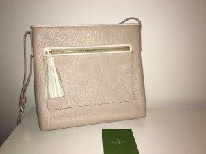 Kate Spade New York Dessi Chester Cross Body Bag Tasche, Umhängetasche, beige/nude weiß